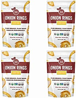Raw Food Central Curt's Classics Snacks 100% Organic, Non-GMO, Gluten Free and Vegan – 4 Pack (Onion Rings)