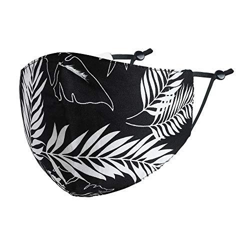 Mund-Nasen-Maske Palme Behelfsmaske Community Maske 100% Baumwolle Farbe Schwarz