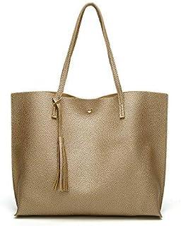 Large capacity Shoulder Bag Shopping Bag Crossbody bag for Women (Golden)