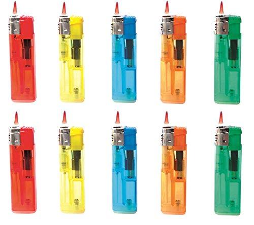 allaroundprofi24 10 x Sturmfeuerzeug Feuerzeug Sturmflamme Turbo Flamme Wind Jetflamme + gratis 1 x Feuerzeug