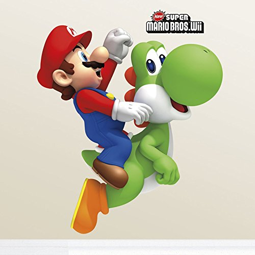 Sticker Géant Repositionnable Nintendon Yoshi et Mario Bros