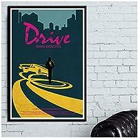 Mmpcpdd ドライブクラシック映画映画キャンバス絵画ポスターと壁の装飾に写真を印刷家の装飾-50X70Cmx1フレームなし