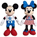 Disney Patriotic Bean Plush Mickey Mouse and Minnie Mouse