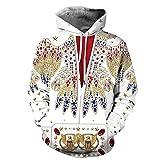Disfraz de Elvis Presley Cosplay con Capucha Sweatershirt Disfraz clásico para Hombres Mujeres