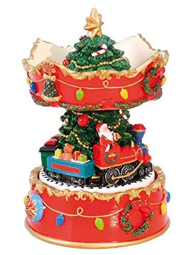 Il Mondo Dei Carillon Mmm GmbH, 858124 Carillon Giostra Natalizia Con Babbo Natale Nel Treno