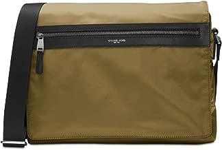 Michael Kors Nylon Unisex Kent Messenger Shoulder Bag (Military)