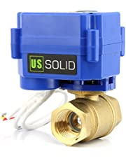"US: Solid 1/2""motorkogelkraan messing elektrisch zoneventiel, 9-24V AC/DC, 3 draden"