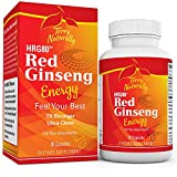 Terry Naturally HRG80 Red Ginseng Energy  30 Capsules  Energy Support Supplement  Korean Red Ginseng Root Powder, Panax Ginseng, HRG80, Non-GMO, Vegan, Gluten Free  30 Servings