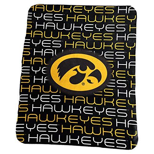 Logo Brands NCAA Iowa Hawkeyes Classic Fleece, One Size