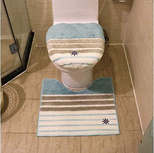KEAINIDENI toiletmat 3 stks/set effen kleur badkamer winter warme toiletbril cover Tihck Overcoat toilettas toiletring badmat Potty stoel kussen 10