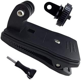 クリップマウント 360度回転式 バックパッククリップマウント 1/4 カメラネジ GoProマウント SJCAM XIAOMI ソニー 等のアクシ ョンカメラ用 に対応 バックパック、ベルトに
