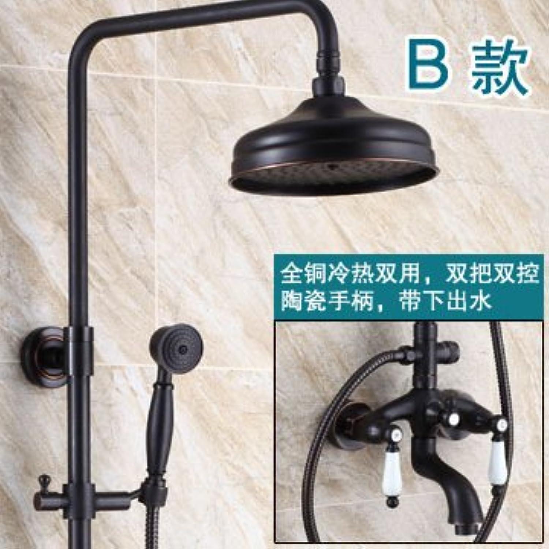 Maifeini _Antike Dusche Wasserhahn Dusche Dusche Dusche Schwarz Bronze, Absatz B