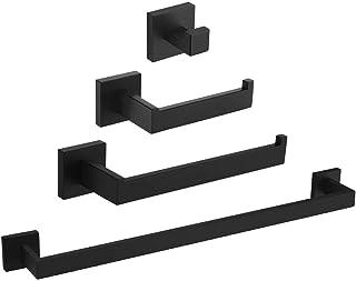 مجموعة أدوات الحمام Angle Simple للحمام 4 قطع، مجموعة ملحقات الحمام من الفولاذ المقاوم للصدأ، مجموعة تثبيت الحمام مع خطاف ...