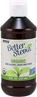 NOW Foods, Certified Organic BetterStevia Liquid, Zero-Calorie Liquid Sweetener, Low Glycemic Impact, Certified Non-GMO, 8...