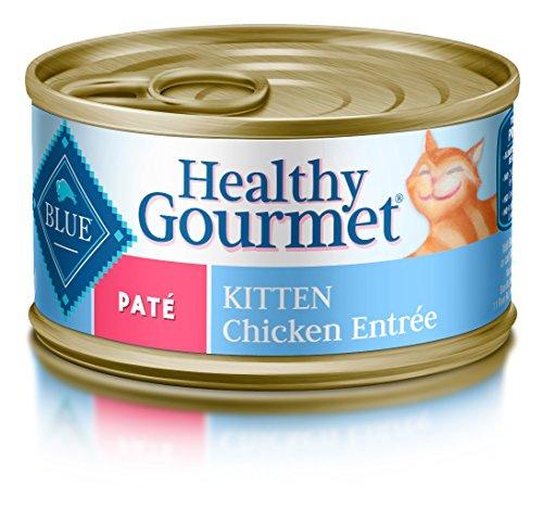 BLUE Healthy Gourmet Kitten Pate Chicken Wet Cat Food 3-oz (Pack of 24)