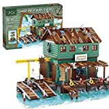 Elroy369Lion MOC Old Fishing Store Juguete de construcción, Mni Architecture Kits de construcción de juguete educativo regalo para adultos y adolescentes (3281 piezas)