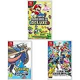 New Super Mario Bros. U Deluxe + Super Smash Bros. Ultimate + Pokémon Espada (Nintendo Switch)