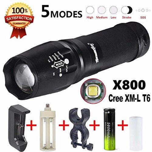 Tongshi 5000 lúmenes G700 LED Zoom linterna X800 militar