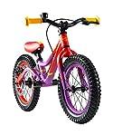 Laufrad Vergleich S'COOL Kinder Pedex Dirt Lernlaufrad, Violett/Red Matt, 14 Zoll bei Amazon