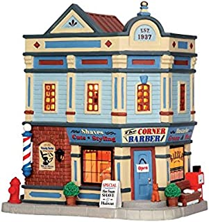 barber shop christmas village
