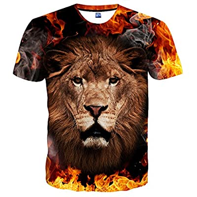 Hgvoetty Unisex 3D Print Tshirts Short Sleeve Cool Graphic Tees for Women Men
