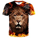 Hgvoetty Unisex Graphic Tees for Men Cool 3D Shirts for Juniors L