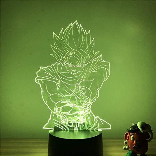 3D-Illusionslampe führte Nachtlicht Anime Dragon Ball Z Goku Bombe winkende Figur 7 Farben berühren optische Tischlampe Kindergeburtstag Weihnachtsgeschenke