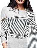 Vlokup Baby Sling Ring Sling Carrier Wrap - Soft Lightweight Cotton Baby Slings for Infant, Toddler, Newborn and Kids - Great Shower Gift, Lightly Padded, Adjustable - Nursing Cover Black Stripe