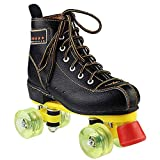 Embossed Cowhide Roller Skates, Classic Quad Roller Skates for Adult & Youth Artistic