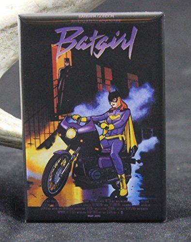 Batgirl Purple Rain Comic Book Cover Refrigerator Magnet.