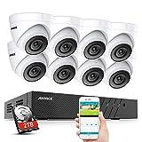 ANNKE H.265 Pro+ 5MP PoE Überwachungskamera System Set, 8CH Videoüberwachung NVR Rekorder 2TB Festplatte mit 8X 5MP HD IP Kamera,für Aussen Innen,EXIR Nachtsicht, Bewegungserkennung