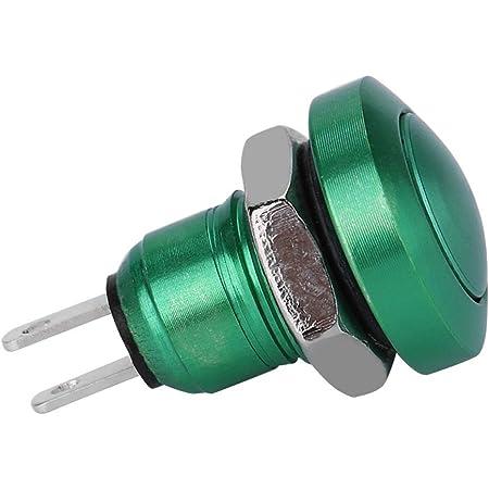 Keenso 1a 24v Kurzzeit Druckschalter Mini Wasserdichter Druckknopf Zink Aluminium Legierung Shell Geeignet Für 8mm Montagebohrung Grün Auto