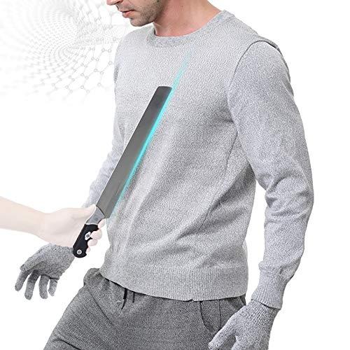 HIMAYjfp Camiseta resistente al corte, camisa a prueba de cuchillos con resistencia al corte nivel 5, material UHMWPE, agradable al tacto y transpirable, chaleco anticorte para hombres y mujeres, M