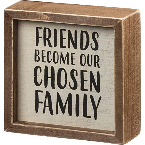 Primitives by Kathy PBK Home Decor - Friends Become Choose Family Box Sign