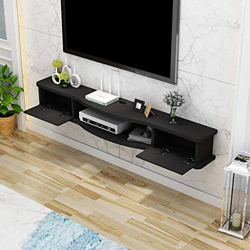 XWYSSH Veranstalter Schwimmdock Wandregal Wandregal Regal TV-Regal TV-Decoder zusammen Router DVD Foto Toy Vase TV Storage Console Regallager Multifunktions-Speichereinheit