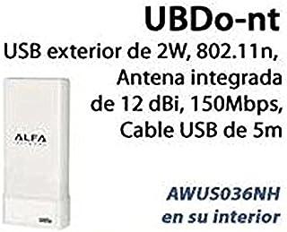 WIFI ADAPTADOR USB ALFA UBDO-NT 2.4GHZ - 12DBI 2W