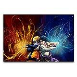 Naruto Uchiha Sasuke Uzumaki Naruto figuras de anime pintura en lienzo para decoración de pared, cuadros de salón 30 x 45 cm