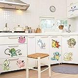Zjxxm Pokemon Go Diy Game Decorations Kids Baby Nursery Kitchen Bedroom Home Decal Wall Sticker Decor Mural Art 50 * 70Cm