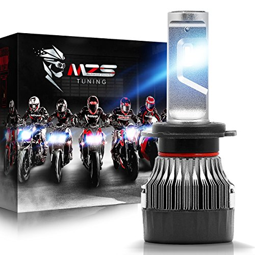 MZS H7 LED Headlight Bulb Single for Motorcycle,Mini Conversion Kit - CREE Chips - 6500K 5000Lm Extremely Bright