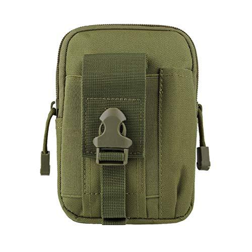 XIOFYA 1 bolsa táctica militar al aire libre impermeable para acampar, cinturón de cintura, mochila deportiva, bolsa de cartera, funda para teléfono para viajes, senderismo (color : bolsa verde)