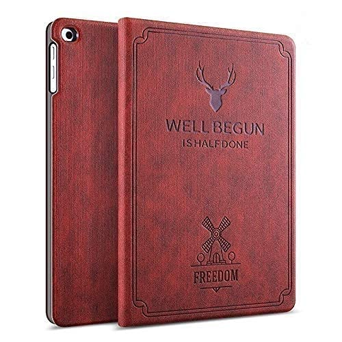 ProElite Deer Flip case Cover for Samsung Galaxy Tab A7 Lite 8.7 inch (22.1 cm) SM-T220/T225, Wine Red