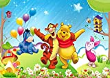3D Wooden Puzzle Set 1000 Pieces - Winnie The Pooh Poster Gallery Vx - Diy Model Kits For Adults Teens And Children - Ideal Christmas And New Year Gift 38*26CM