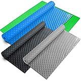 pavimenti in pvc rotoli - rivestimento pavimento garage | tappeto in gomma antiscivolo bollato e plastificato - 2.2 mm - 120x250 cm - blu