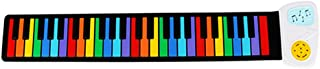 Honelife 49 Key Speaker Hand Roll Up Piano Portable Folding Electronic Soft Keyboard Kid Music Toy