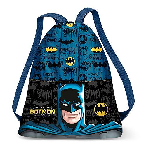 Karactermania Batman Knight-Strap Drawstring Bag Turnbeutel, 41 cm, Mehrfarbig (Multicolour)