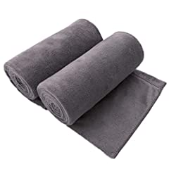 COMFORTABLE & SOFT - Made of High Quality Microfiber, Lightweight and Soft than Ordinary towel. Ideal for Bath, Outdoor Camping, Swimming, Sports, Yoga and Travel holiday ABSORBENT & FAST DRYING – JML Microfiber towels can absorb 7 times their weight...