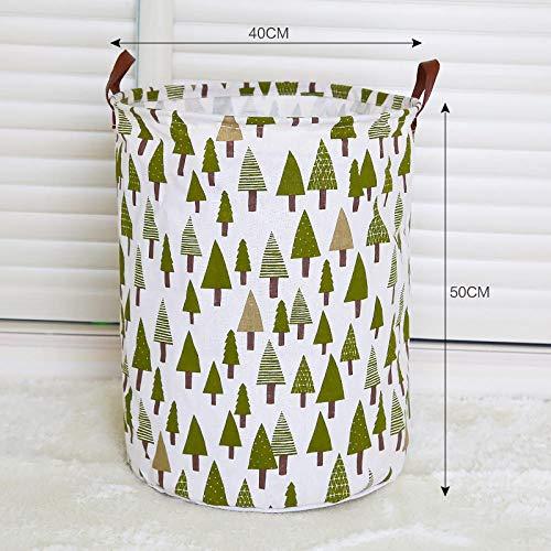 FGHOMEYWKFS Canasta de Almacenamiento de Tela Canasta de Almacenamiento Juguete hogar Plegable Canasta de Almacenamiento-árbol de Navidad 40 * 50