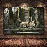 caoyuanbao Póster E Impresiones En Lienzo Skyrim The Elder Scrolls, Cuadro Artístico para Pared, Decoración, Pintura Sin Marco (40X50Cm) C968
