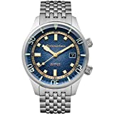 SPINNAKER Men's Bradner 42mm Steel Bracelet & Case Automatic Blue Dial Analog Watch SP-5062-22