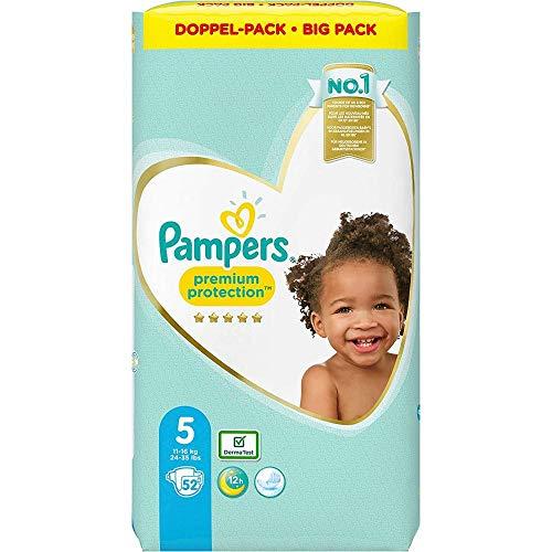 Pampers Größe 5 Premium Protection Baby Windeln, 52 Stück, Weichster Komfort Und Schutz (11-16kg)